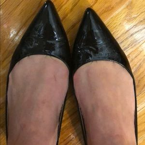 J.Crew patent leather pointy toe flats 6 1/2